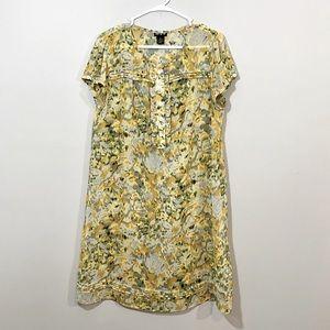MSK Sheer Floral Dress